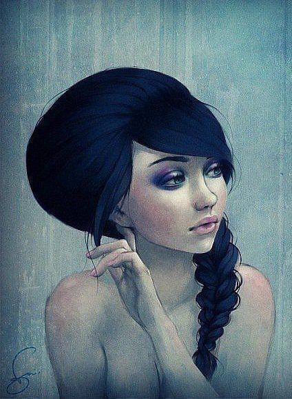 Nette dunkle Haarfarbe 2015-2016 - http://www.schonefrisuren.org/nette-dunkle-haarfarbe-2015-2016/