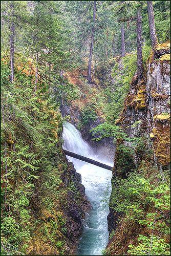 Upper Little Qualicum Falls, Little Qualicum Falls Provincial Park, Vancouver Island, British Columbia, Canada