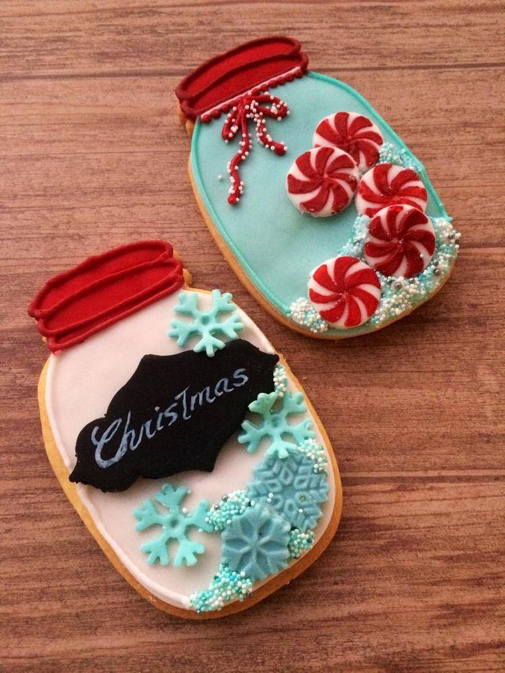 Christmas mason jar cookies                                                                                                                                                                                 More