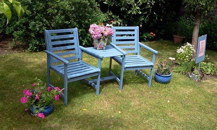 Painted Garden Furniture Garden Pinterest Painted