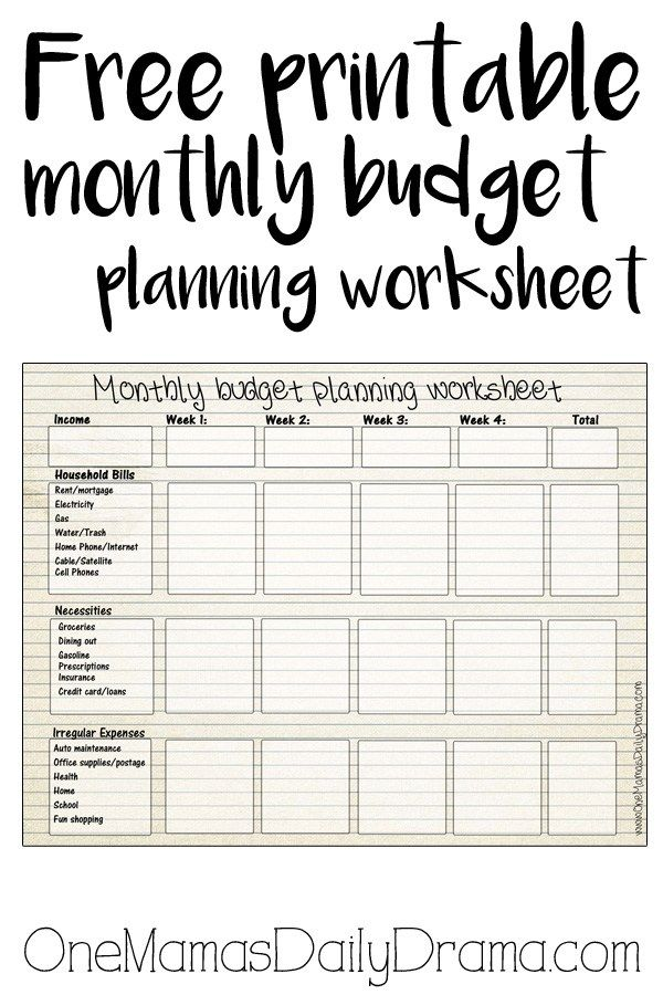Free printable monthly budget worksheet Monthly budget template - How To Make A Household Budget Spreadsheet
