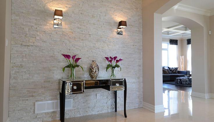 Leeroc pav s briques et pierres pierre impexstone int rieur chic et blan - Brique blanche interieur ...