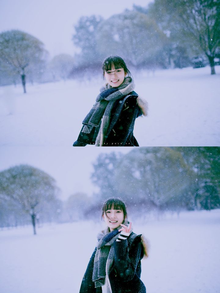 透明雨伞 雪中少女 雪と一緒にの少女 from小可 LOCO 日系摄影