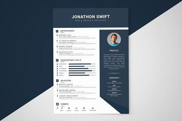 Cv Resume Template 3 Pages Resume Design Template Cv Resume Template Resume Template