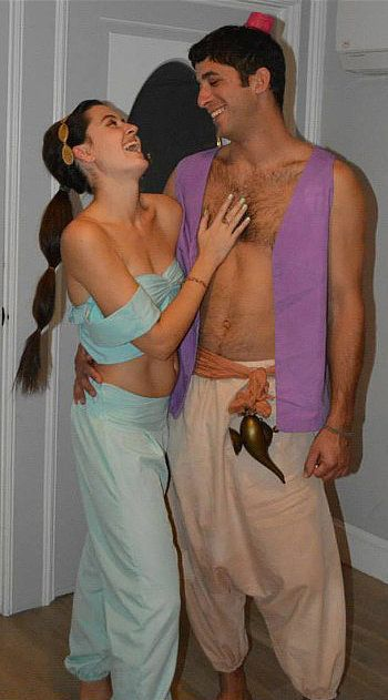 Jasmine and Aladdin: A more adult version of our favorite Disney duo.