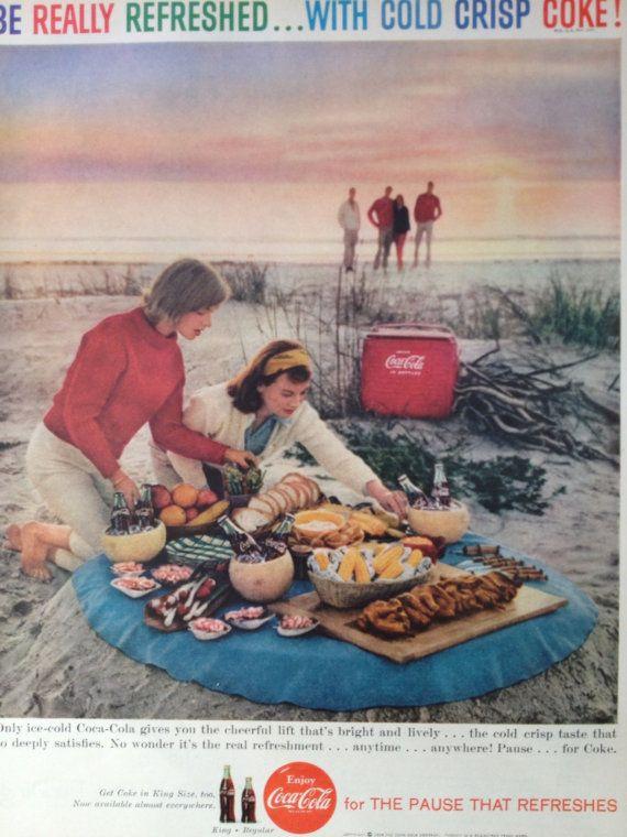 Vintage 1959 CocaCola Ad Paper Ephemera taken by TheVintageEmpress, $6.00