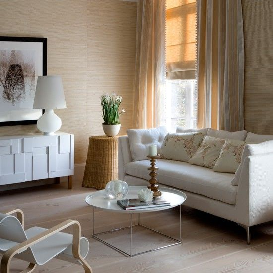 Casual cream living room | Living rooms | Living room ideas | Image | housetohome.co.uk