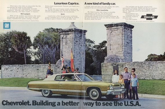 1972 Chevrolet Caprice Vintage Car Advertisement by AdVintageCom