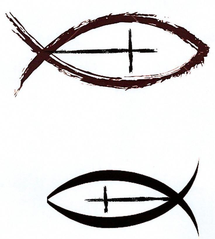 Christian fish with cross as a side tattoo with cross upward, i like a lot and still debating on what to get on my side. Christian fish with cross as …