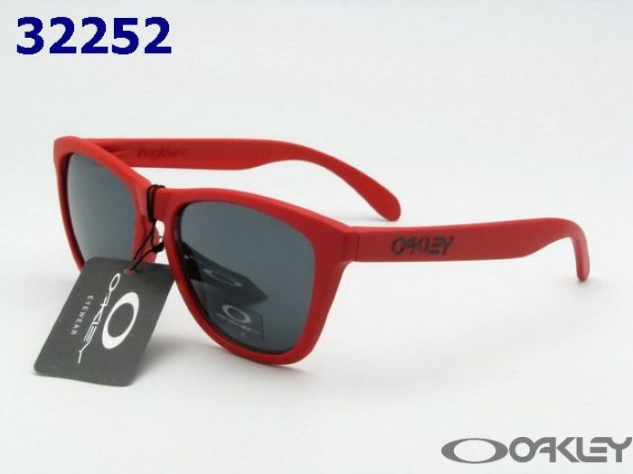 $11.95 Replica oakleys frogskins red sunglasses black iridium
