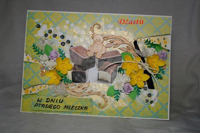 U Dżastii: Karteczka z ptasim mleczkiem.