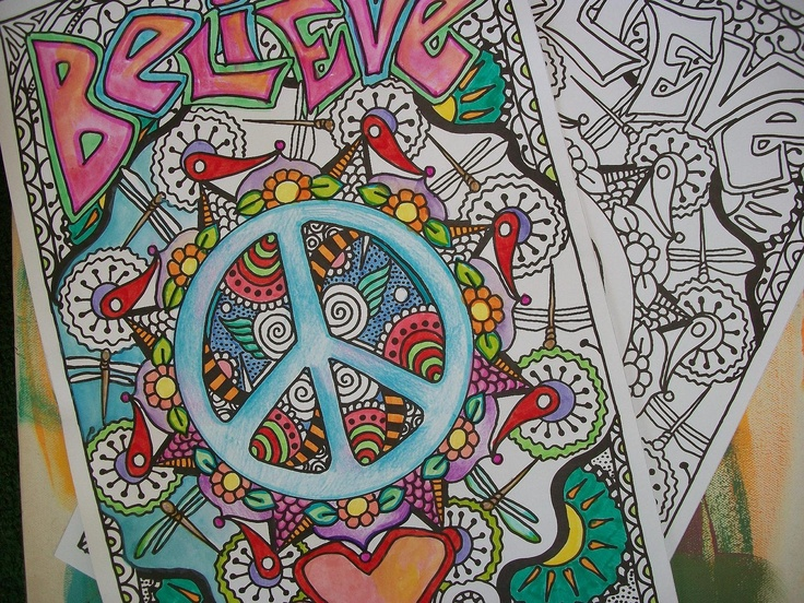 17 best images about hippi art on pinterest coloring for Hippie coloring book pages