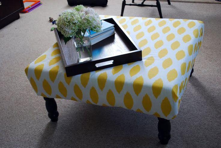 DIY: Upholstered Ottoman/Coffee Table. Option 2.