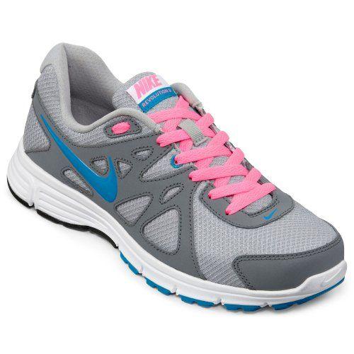 Nike Women's NIKE REVOLUTION 2 (W) WMNS RUNNING SHOES 7 Women US (WLF GREY/N TRQ/CL GRY/DGTL PNK) #runningshoes