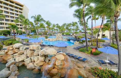 One of the pools at occidental grand resort. Aruba. All inclusive.