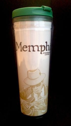 NEW STARBUCKS Global Icon Memphis City Travel Mug Tumbler Plastic Acrylic 12 oz