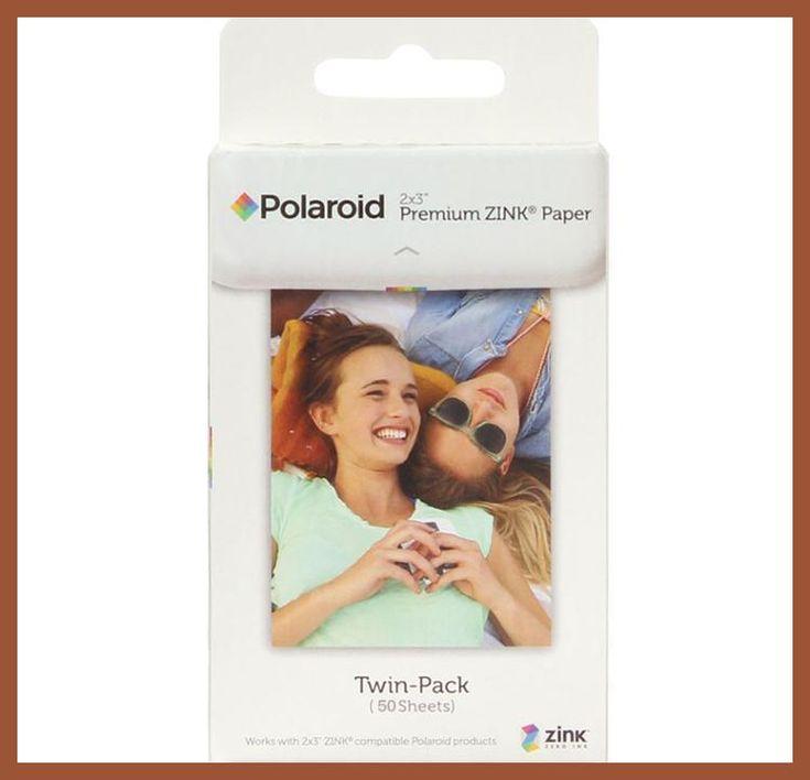 50 sheets Premium ZINK Zero Ink Paper for Polaroid Instant Photo Camera Z2300 Snap touch / Zip Pinter / Socialmatic Instagram