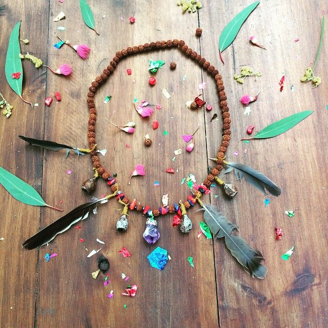 A handcrafted gift for the birthday child from Wildwood's faerie realm. #handcrafted #necklace#nature#creative#magical#children's#birthday#party www.willywagtails.com