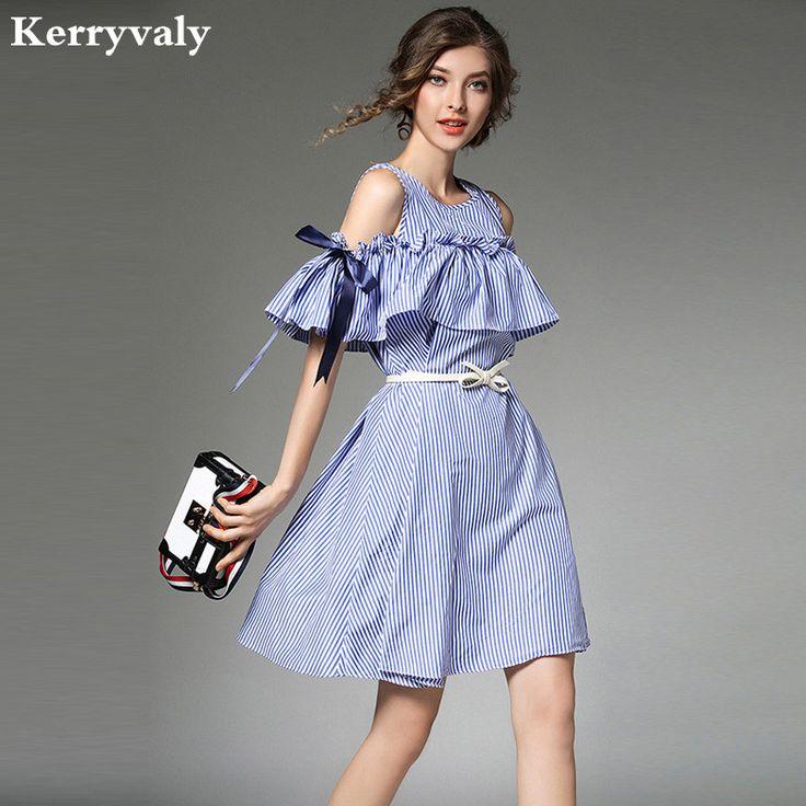 >> Click to Buy << Summer Bow Blue Stripe Strapless Sexy Dress Vestidos Verano 2017 Robe Ete Clothes Women Beach Dress Plaj Elbiseleri K943348 #Affiliate