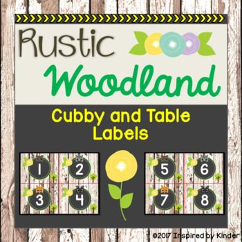 These adorable rustic woodland cubby and table labels are the perfect accent for your neutral classroom décor! These labels will nicely complement a rustic theme, a woodland animal theme, or a nature theme. These labels can serve a dual purpose in your classroom: labeling student cubbies as well as tables!