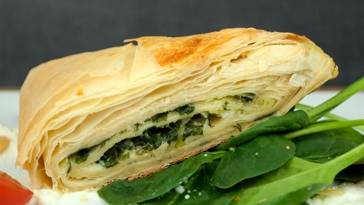 Spinach and Cheese Pastry (Spanakopita)