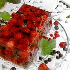 Terrine of summer fruit. So good and so pretty. Real crowd pleaser.