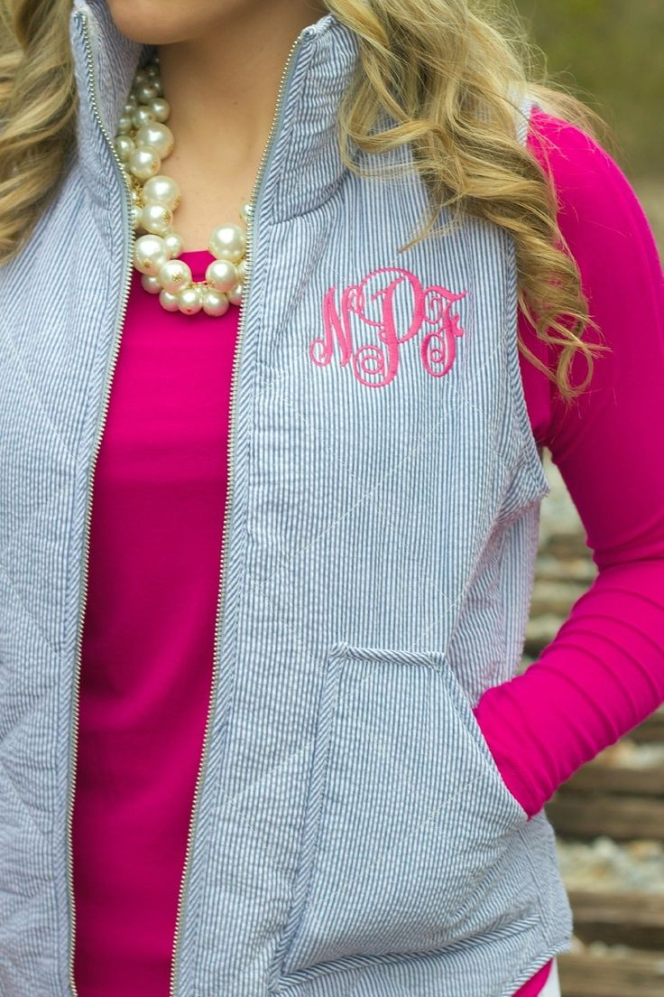 Lavish Boutique  - The Hampton Seersucker Vest