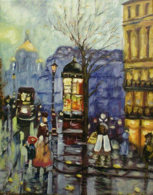 View Retro city improvisation by Elena Sokolov. Browse more art for sale at great prices. New art added daily. Buy original art direct from international artists. Shop now