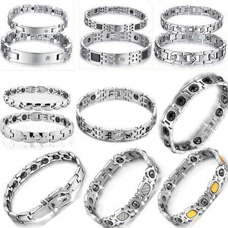 OPK JEWELRY Unisex Hologram Bracelets Stainless Steel Man Bracelet Inlaid Magnetic Energy Balance Bangle Free DHL Mixed Order