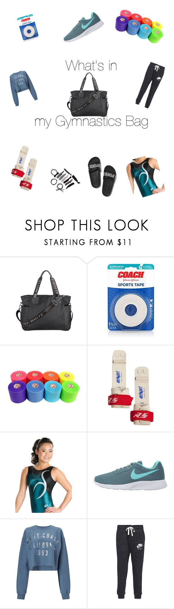 """""""What's In My Gymnastics Bag"""" by abigail-coe03 ❤ liked on Polyvore featuring NIKE, Miss Selfridge and Victoria's Secret"""