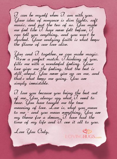 Good 10 Romantic Love Letters For Him