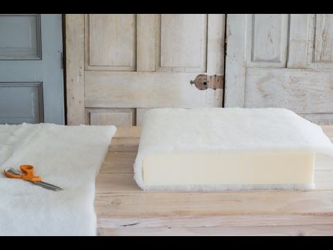 how to make a chair cushion | deck chair makeover