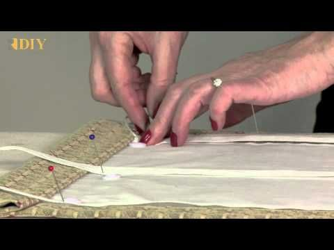How-To Make a Basic Roman Shade using shroud tape instead of rings