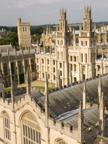 All Souls College, Oxford University, Oxford, Oxfordshire, England, United Kingdom, Europe Photographic Print