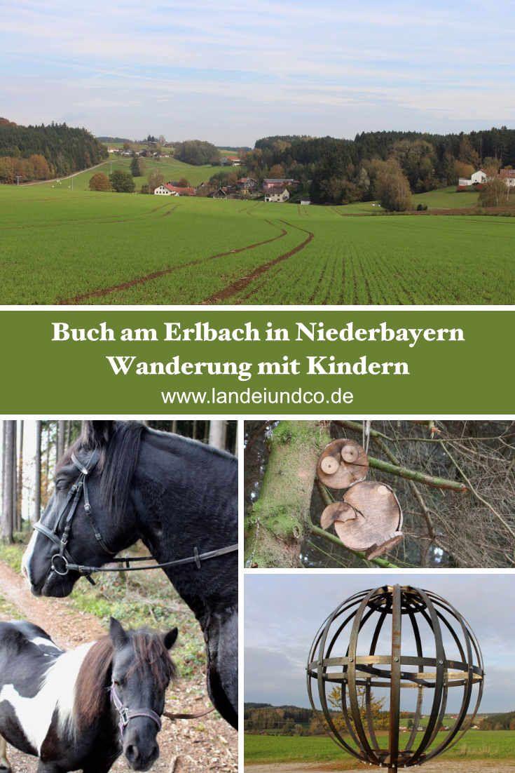 Herbstliche Wanderung mit Kindern über Felder, Hügel und Wiesen und durch den Wald in Buch am Erlbach bei Landshut, Planetenweg