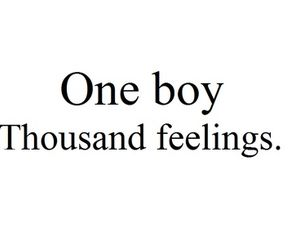 One boy Thousand feelings.