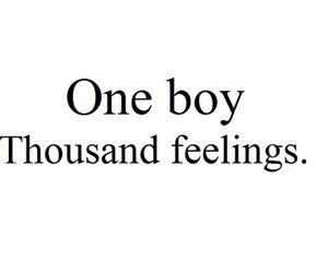 One boy Thousand feelings.