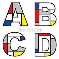 """Abécédaires aux couleurs de Mondrian"""""""