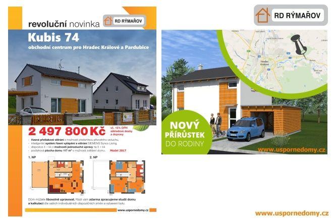rodinný dům, moderní, podkrovní, základová deska, komín, doprava, v ceně, www.uspornedomy.cz,