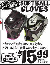 Louisville Slugger Softball Gloves from Ollie's Bargain Outlet $15.99
