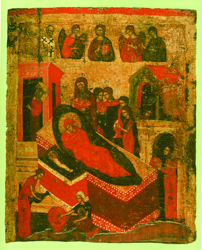 XIV - XV вв.  Рождество Богоматери с избранными святыми