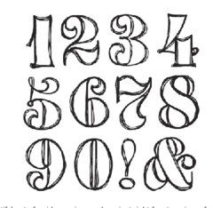 Sassafras Lass - Clear Stamp Sets - Swirly Numbers