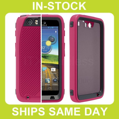 Otterbox Defender AT Motorola Atrix HD Case Cover with Built-In Screen Protector and Belt Clip Holster - Pink Strike