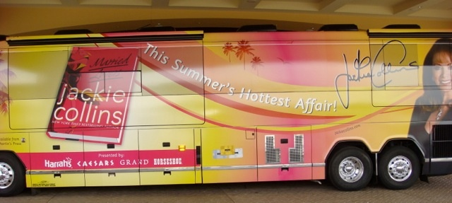 My rock n' roll tour bus from the Married Lovers book tour