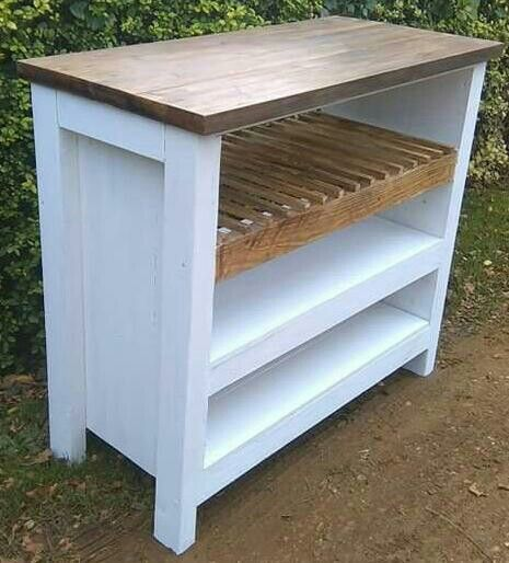 Reclaimed wooden unit