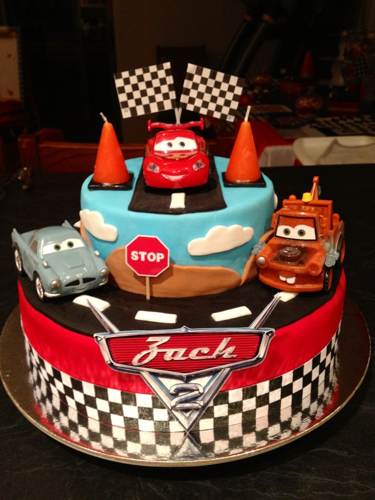Car Cake Designs For Birthday Boy : 17 Best ideas about Disney Cars Cake on Pinterest Cars ...