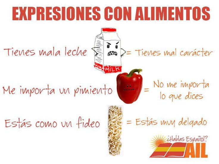 Hay muchas expresiones relacionadas con alimentos en español. ¡Aquí van algunas! ¿Las conocéis? #vocabularioespañol #learnspanish
