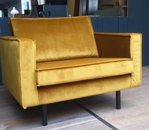 Rodeo fauteuil velvet okergeel | BePureHome