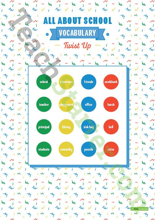 Teaching Resource: A fun, engaging board game to consolidate students' understanding of school vocabulary.