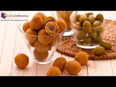 Fried Stuffed Olives Ascolana style - Italian video recipe